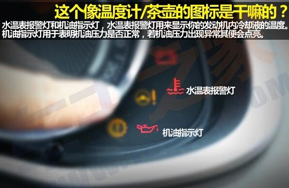 汽车仪表指示灯你都认识吗
